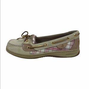 Sperry 7.5 Angel Fish boat shoes beige / pink